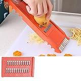 IGEMY 7Pcs Fruit Vegetable Potato Slicer Cutter Chopper Peeler Kitchen Food Tool Set (Orange)