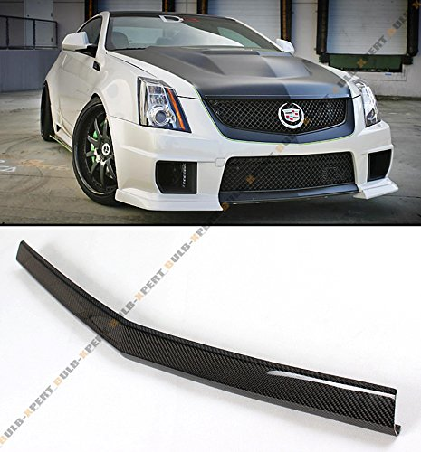 Real Carbon Fiber Front Bumper Center Lip Spoiler for 2011-2015 Cadillac CTS-V 2 Door Coupe