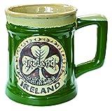 Irish Designed Pottery Mug With A Shamro