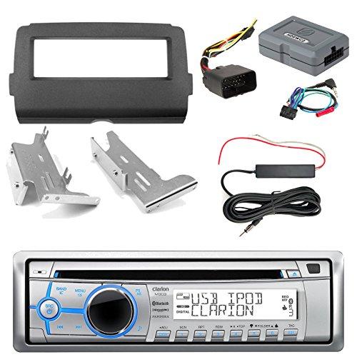 Clarion M303 Marine Single DIN Bluetooth Stereo, iDataLink Harley Davidson Wiring Kit, Enrock Harley Dash Kit, Hide Away Antenna Booster Kit (Select 2014-Up Harley Davidson)