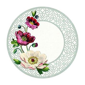 Melamine Plates Plastic Plates Appetizer Plates Dessert Plates Set Four Poppies 9u0026quot; Heavy Weight  sc 1 st  Amazon.com & Amazon.com | Melamine Plates Plastic Plates Appetizer Plates Dessert ...