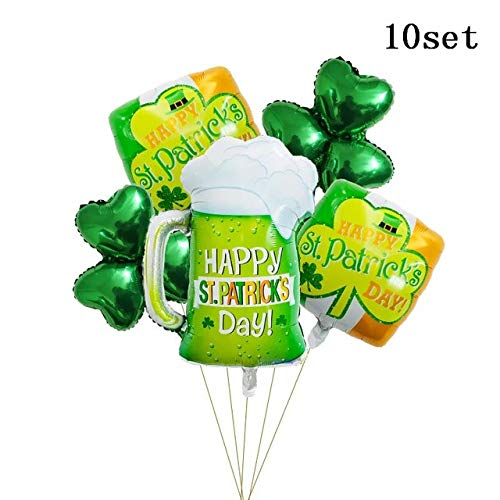 Utini 50pcs Green Clover Beer Cup Air Balloons to Celebration Oktoberfest Festival Supplies Balon Happy St Patrick's Day Decor Globos - (Color: Deep Sapphire)