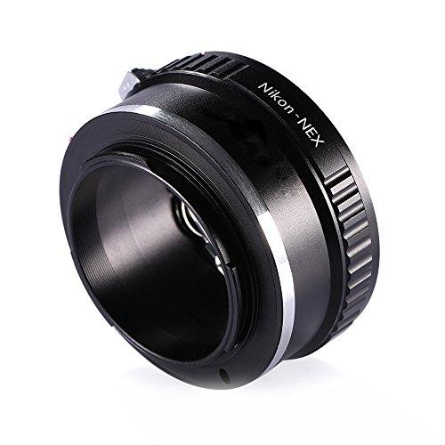 Adapter to Convert Nikon F-Mount Lens to E-Mount/NEX for Alpha Sony a7, a7S, a7IIK, a7II, a7R II, a6500, a6300, a6000, a5000, a5100, a3000 Mirrorless Digital Camera