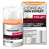 L'Oreal Paris Men Expert Vita Lift, Anti-Wrinkle & Firming Moisturizer, Hydrating Moisturizing Cream With Pro-Retinol, For Aging Skin, 48 ML