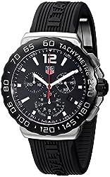 TAG Heuer Men's CAU1110.FT6024 Formula 1 Black Dial Black Rubber Strap Quartz Watch