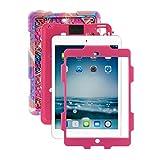 iPad Mini Case, ACEGUARDER iPad Mini 2 Case,iPad Mini 3 Case Full Body Rugged Rain proof Shockproof Impact Resistant Anti Slip Smart Cover with Kickstand for Apple iPad Mini 1 2 3 (Pink Camo/Rose)
