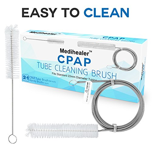 CPAP Tube Hose Cleaning Brush,CPAP Mask Cleaner Brush,Supplies for Standard 22mm Diameter Tubing,Stainless Steel 7ft and 7Inch Handy Brush,Pack of 2