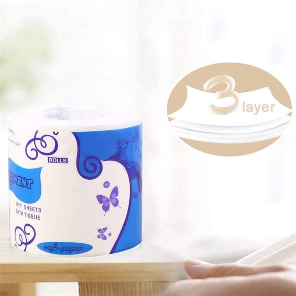 3 couches de papier hygi/énique Comfort Care essuie-mains en papier hautement absorbant pour une utilisation quotidienne GULEHAY Papier hygi/énique ultra doux