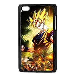 Personalized Anime New Dragon Ball Z Super Saiyan Son Goku Hard Durable Plastic Case Cover for Apple iPod Touch 4 Unique Custom Design Fashion DIY