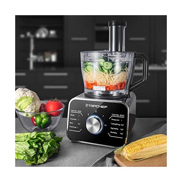 Topchef robot da cucina 1100W Robot da Cucina Compatto (con accessori inclusi: gancio per impastare, frullatore… 4