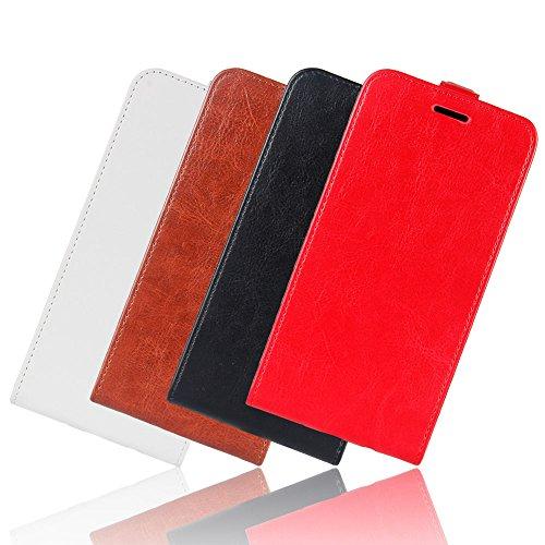 LORDWEY® para ASUS ZenFone 4 ZE554KL Estuche, Arriba y abajo Carcasas y fundas de billetera Cubierta cuero PU caso Flip con ranuras para tarjeta -negro negro