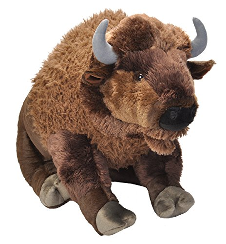 Wild Republic Jumbo Bison Plush, Giant Stuffed Animal, Plush Toy, 30