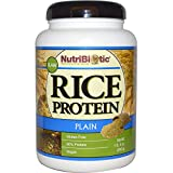 NutriBiotic, Raw Rice Protein, Plain , 1 lb. 5 oz (600 g) - 3PC