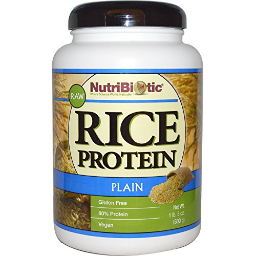NutriBiotic, Raw Rice Protein, Plain , 1 lb. 5 oz (600 g) - 3PC by NutriBiotic