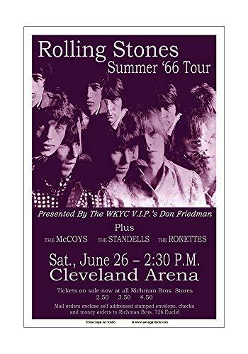 - Raw Sugar Art Studio Rolling Stones 1966 Cleveland Concert Poster