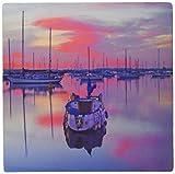 3dRose LLC 8 x 8 x 0.25 Inches San Diego Sailboats Sunrise Mouse Pad (mp_21710_1)