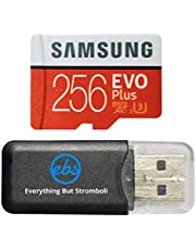 Samsung Evo Plus 256GB MicroSD Memory Card & Adapter Works with GoPro Hero 9 Black (Hero9) 4K UHD, UHS-I, U1, Speed Class 10, SDXC (MB-MC256) Bundle with (1) Everything But Stromboli Micro Card Reader