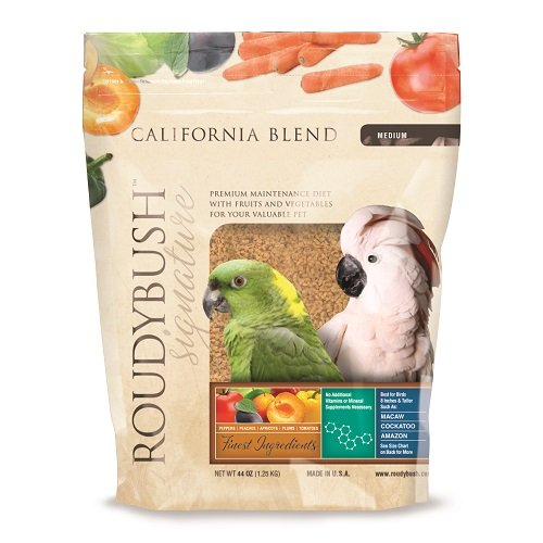 RoudyBush California Blend Bird Food, Medium, 44-Ounce ()