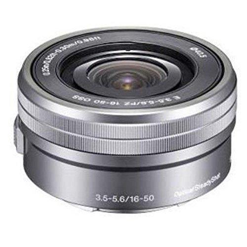 Sony selp1650 16 – 50 mm f / 3.5 – 5.6 OSSアルファズームレンズシルバーバルクパッケージ、インターナショナルバージョン保証(no)   B019GFEDZM