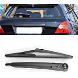 Black Rear Window Wiper Arm with 310mm Blade Set Fit for Honda Civic Si SiR Hatchback 3-Door 2001-2005