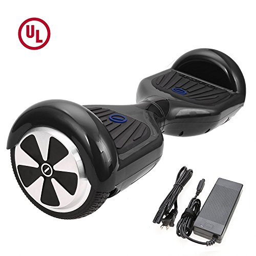 HIGH ROLLER 6.5″ Waterproof Hoverboard with Buffing Shell UL 2272 Certified Self-Balancing Scooter with LED lights , Black