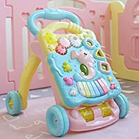 Toyshine Musical My First Step Push and Pull Toy Activity Baby Walker with Interactive Toys (Multicolour)