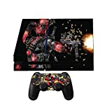 Sony PS4 Skin + 2 Ps4 Controller skins DeadPool