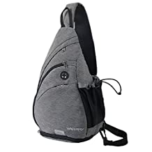 Sling Backpack, WATERFLY Chest Bag Shoulder Crossbody Bag Triangle Backpack for Men Women Outdoor Travel Cycling Hiking Running
