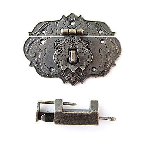 1 Set Antique Latch Box Lock Latch