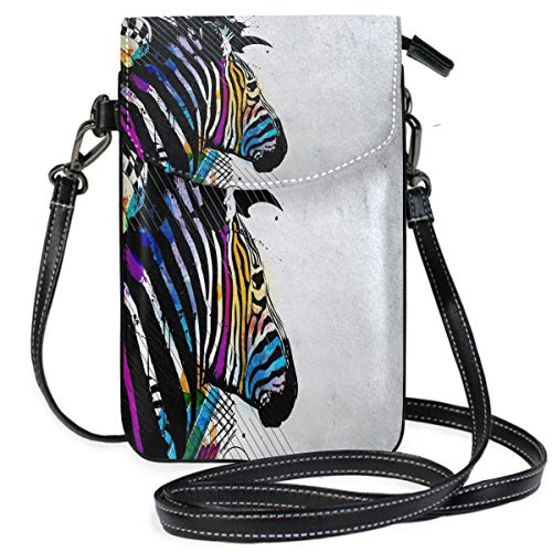 (Zebra Desktop Backgrounds Small Crossbody Bag Cell Phone Pouch Womens Cute Leater)