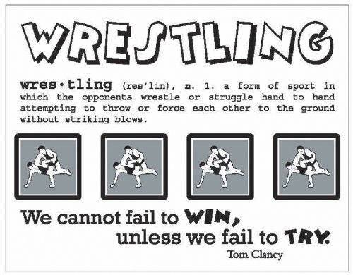 SRM Say It With Stickers Mini-Wrestling 1 pcs sku# 1202217MA by SRM Press
