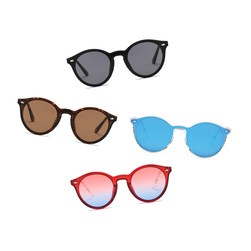 ALBRIGHT Unisex Fashion Retro Round Sunglasses