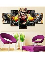 Muur Kunst Afbeelding 5 Stuk Anime My Hero Academia Bakugou Katsuki Poster Afbeelding Afgedrukt Schilderen Op Canvas Kinderkamer Decoratie