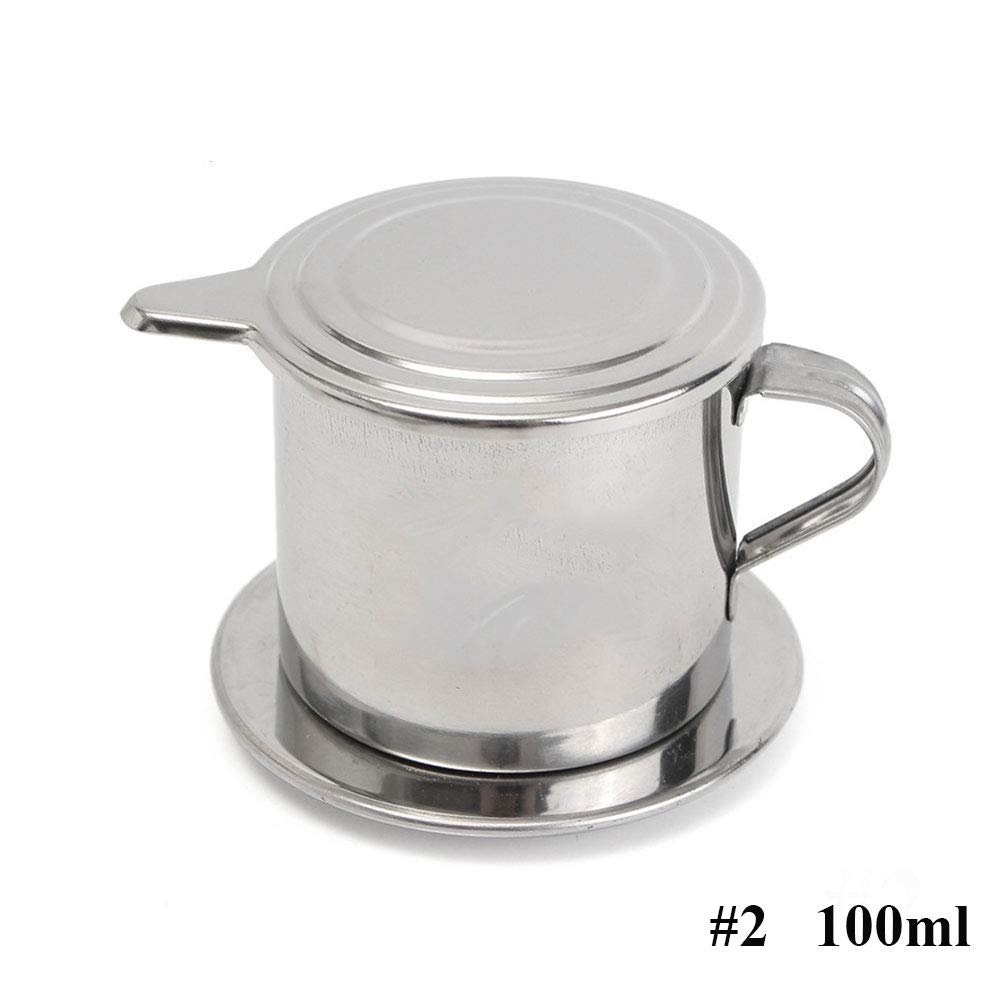 Vietnamese Coffee Filter Maker,Stainless Steel Vietnam Vietnamese Coffee Simple Drip Filter Maker Infuser New (100ml) by Way2top (Image #1)