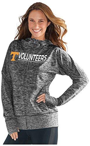 NCAA Tennessee Volunteers Women's Receiver Hoody, XX-Large, Heather - University Full Hoodie Zip