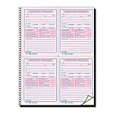 Tops 4009 Important Message Book, 11'' x8-1/4, 400 Sets, PK/CY Paper