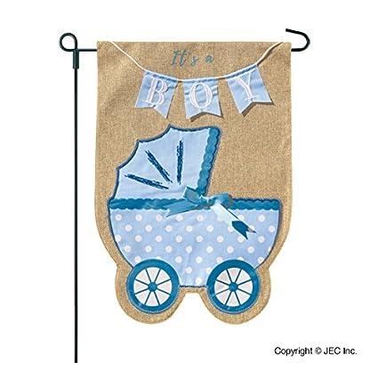 amazon com new baby banner baby boy garden flag yard sign car