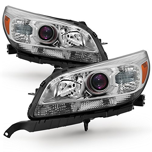 For 2013-2015 Chevy Malibu LS/LT/LTZ/Eco Models Chrome Headlights Front Lamps Direct Replacement