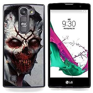 "Qstar Arte & diseño plástico duro Fundas Cover Cubre Hard Case Cover para LG G4c Curve H522Y ( G4 MINI , NOT FOR LG G4 ) (Evil Zombie Vampiro"")"