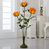 ZF-301 45'' Free Standing Paper Peonies(Yellow, 4pcs)