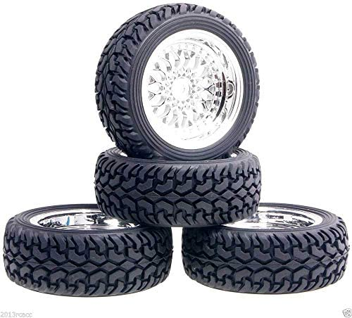 RC 2084-8019 Plating Plastic Wheel & Rally Tires For HSP 1:10 On