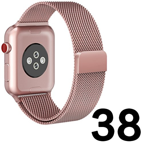For-Apple-Watch-Band-38mm-Smooth-Stainless-Steel-Strap-Freely-Fully-Magnetic-Closure-Clasp-Metal-Strap-Wrist-Band-Replacement-Bracelet-for-IWatch-Band-Series-3-Series-2-Series-1-Rose-gold