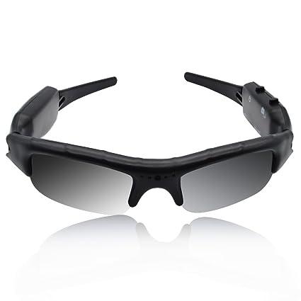 BeiLan Gafas de Cámara de Sol 480P DVR Grabadora de Vídeo con Cable USB y Ranura para Tarjetas SD para Caza Pesca Conducción Kayak Acampar Canotaje ...