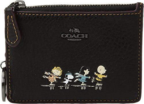 COACH Women's Box Program Snoopy Mini ID Skinny Qb/Black One Size