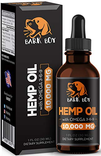 Bark Boy - Hemp Oil for Dogs Cats - Separation Anxiety, Joint Pain, Stress Relief, Arthritis, Seizures, Chronic Pains, Anti-Inflammatory - Omega 3, 6, 9-100% Organic - Calming Drops (1 Pack)
