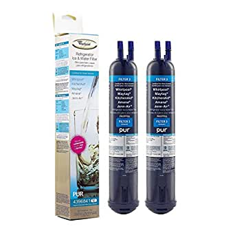 2-Pack ALPINE WATER Compatible with Whirlpool Refrigerator Water Filter 4396841 EDR3RXD1 4396710 46-9030 Kenmore Pur Sears Refrigerator Water Filter 3 Push Button