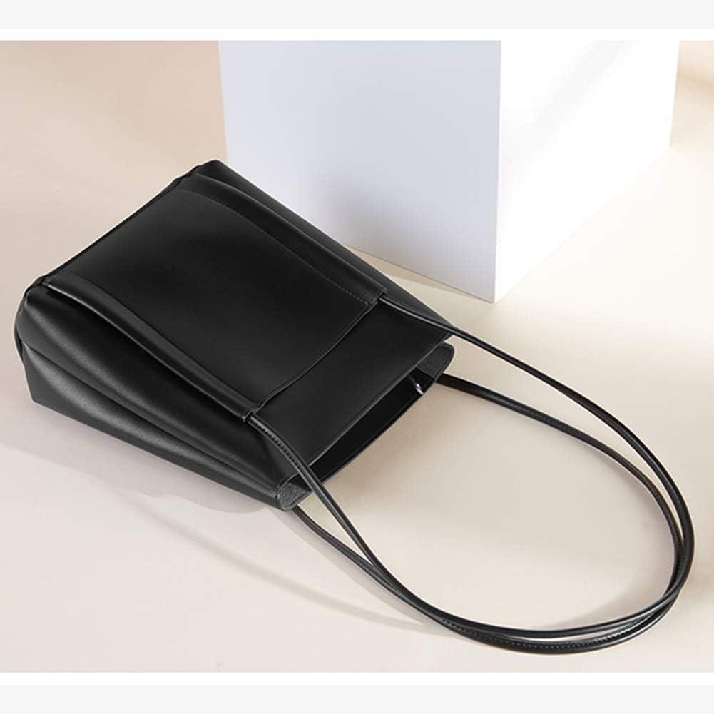 Handbag large capacity simple bucket bag female texture light retro breath shoulder bag