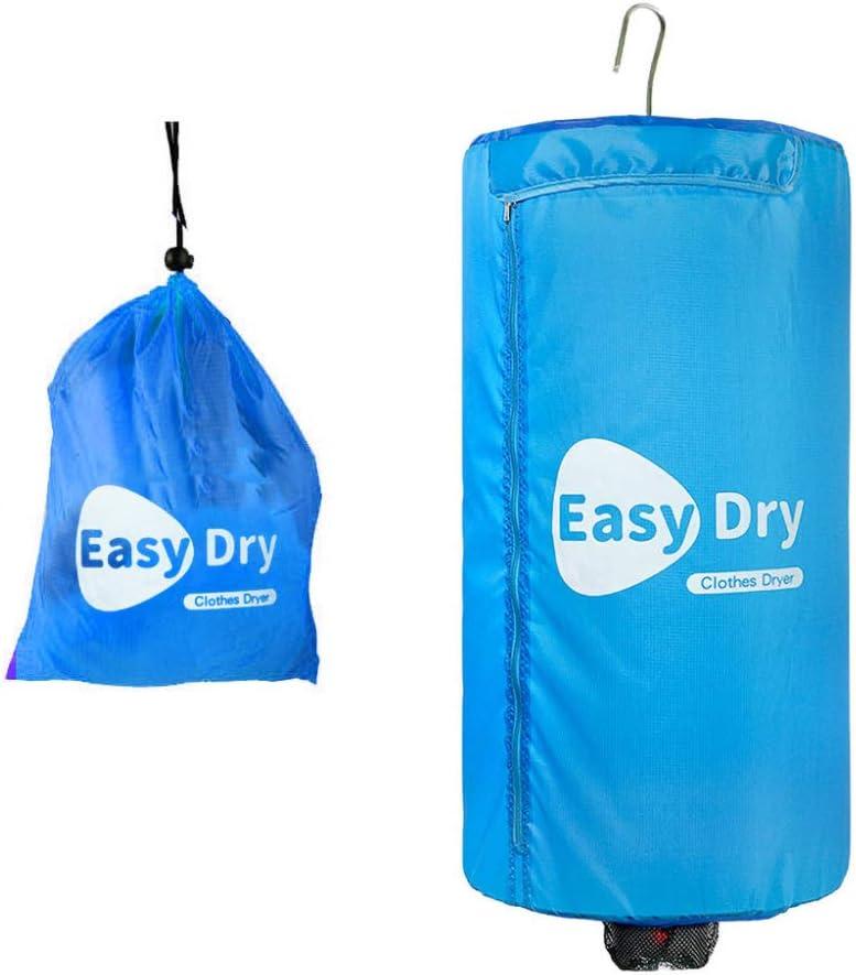 YJDQGYJ Mini Portátil Secadora,Eléctrico Secadora de Ropa,Dormitorio Viaje el Ahorro de Energía Secadora Eléctrica,Casa Mudo Clothes Dryer 5 Kg/azul / 82x42cm
