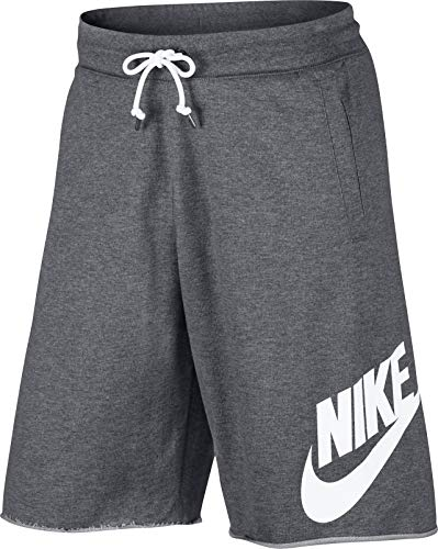 - Nike Mens Sportswear Logo Shorts Carbon Heather/White 836277-091 (X-Large)