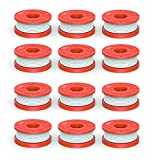 "Quickload 0.065"" Replacement Autofeed Spool for WORX String Trimmers (Compatible with WA0010), 12-Pack"